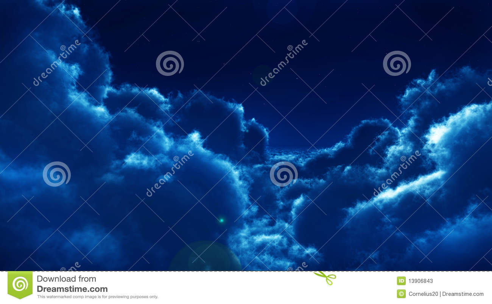 Nuvens na noite