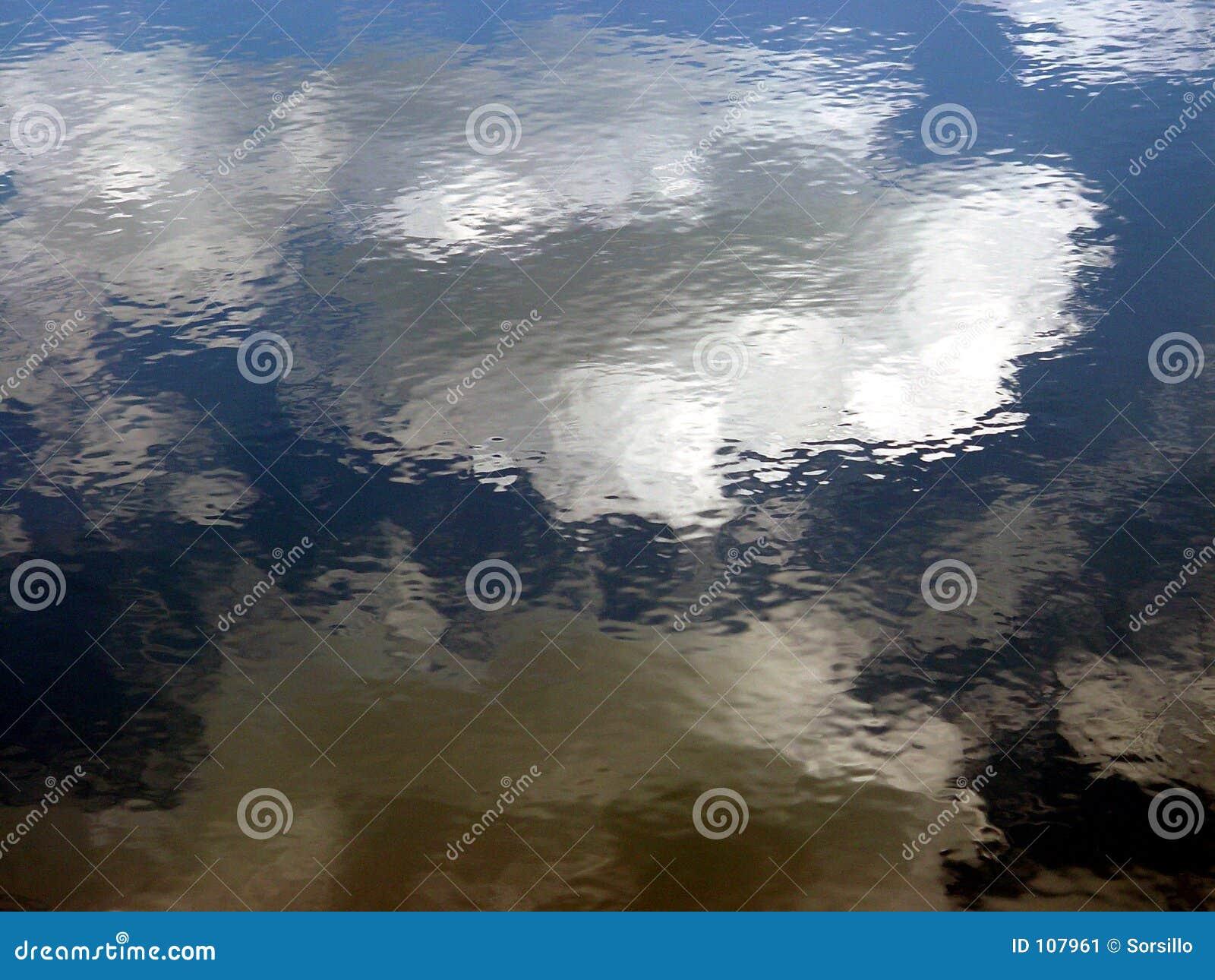 Nuvens que refletem