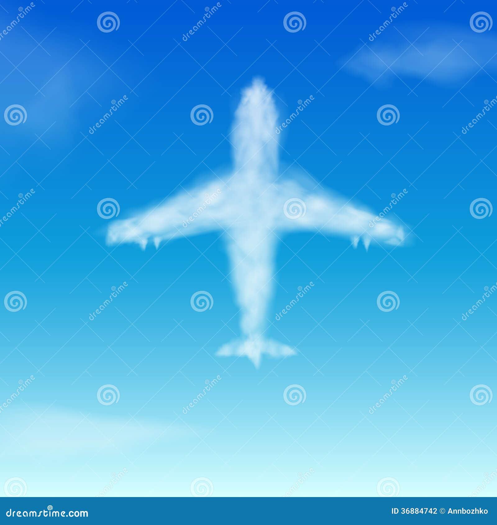 Download Nuvola. Aeroplano illustrazione vettoriale. Illustrazione di commerciale - 36884742