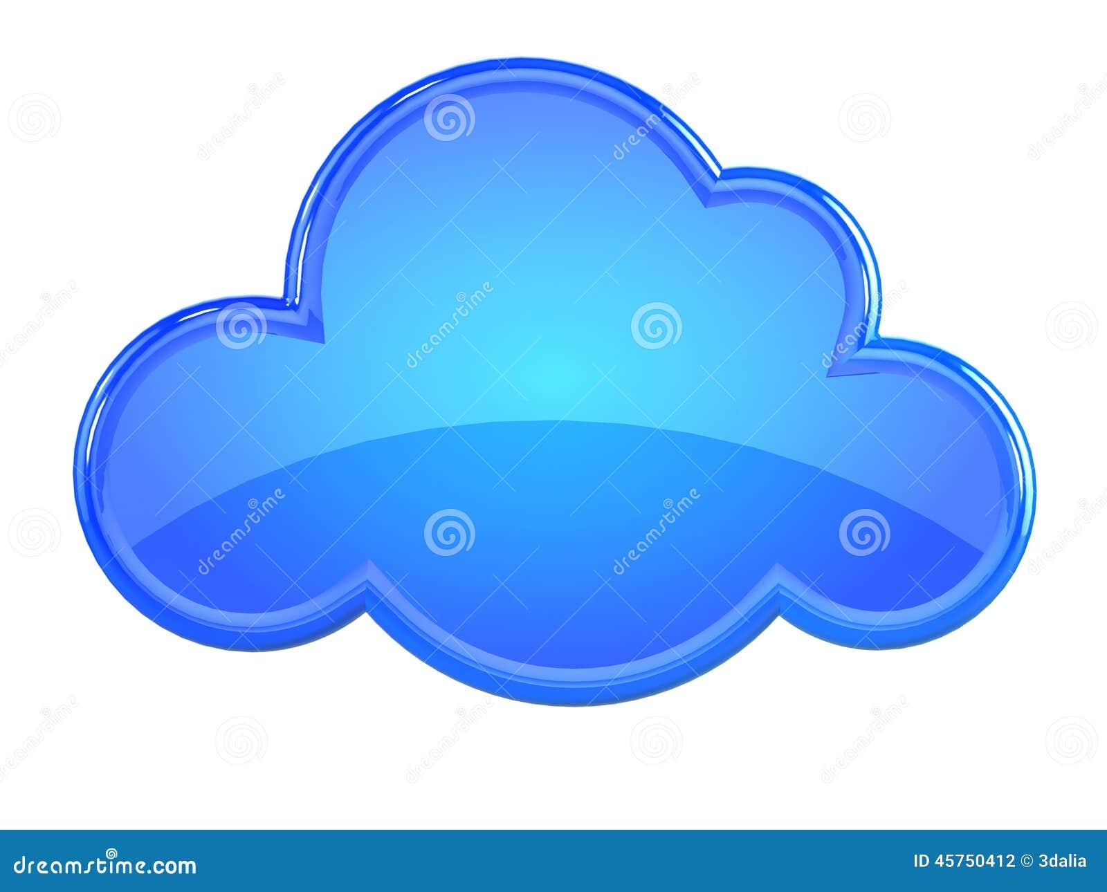Nuvola blu di plastica 3d