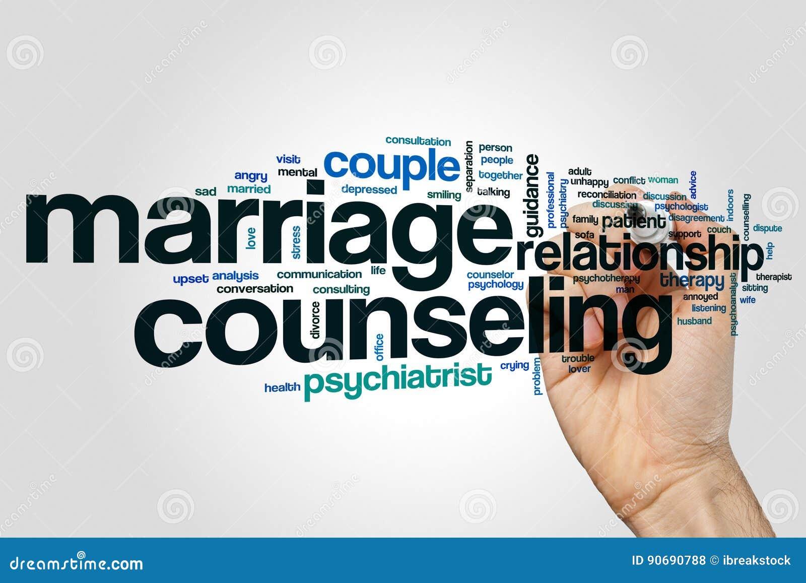 Nuvola di parola di consiglio di matrimonio