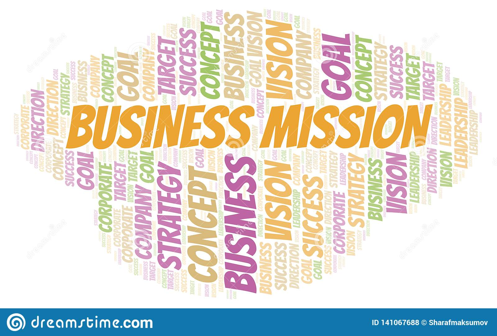Nuvola di parola di missione di affari