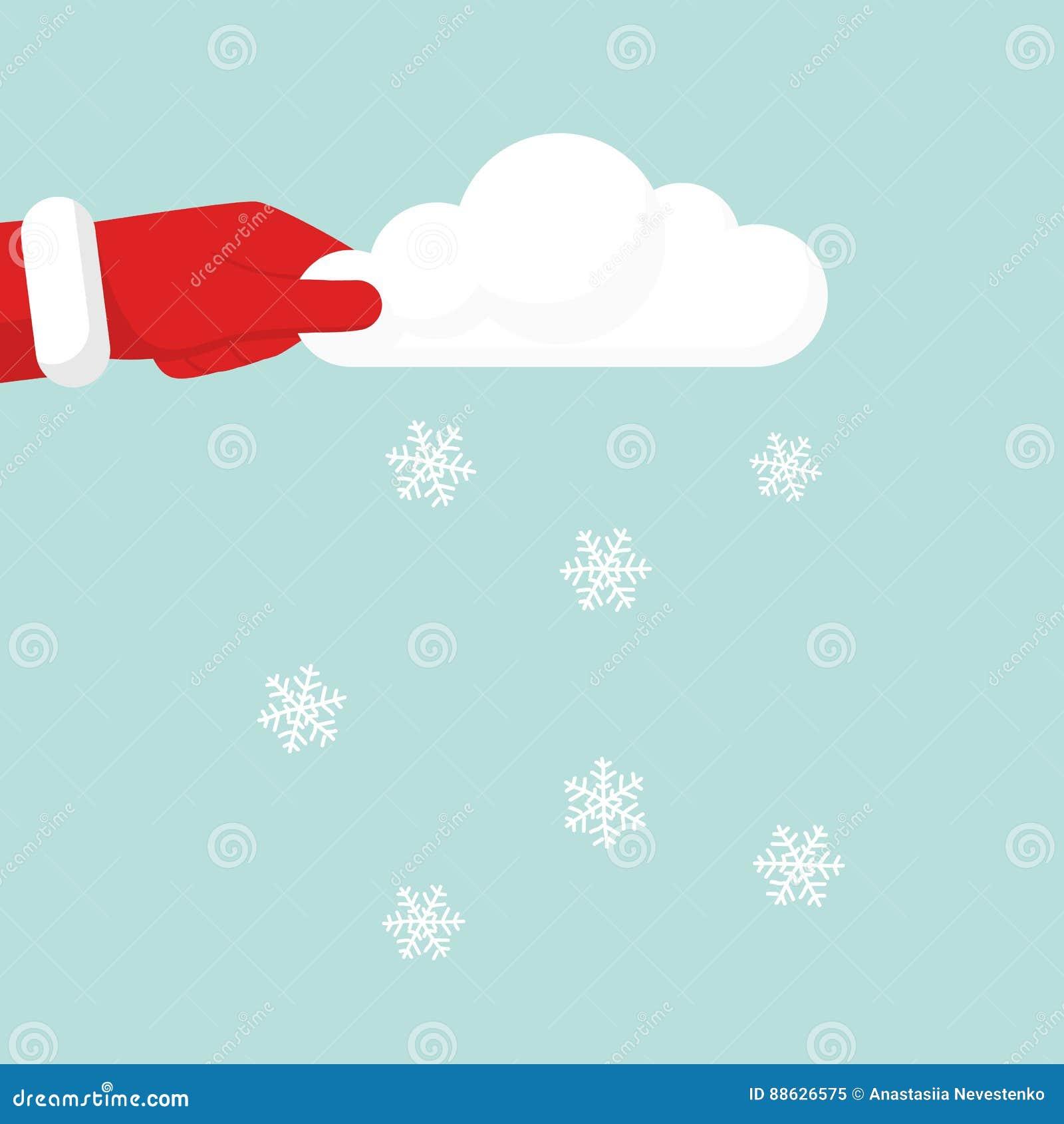 Nuvola di salto della tenuta della neve disponibila