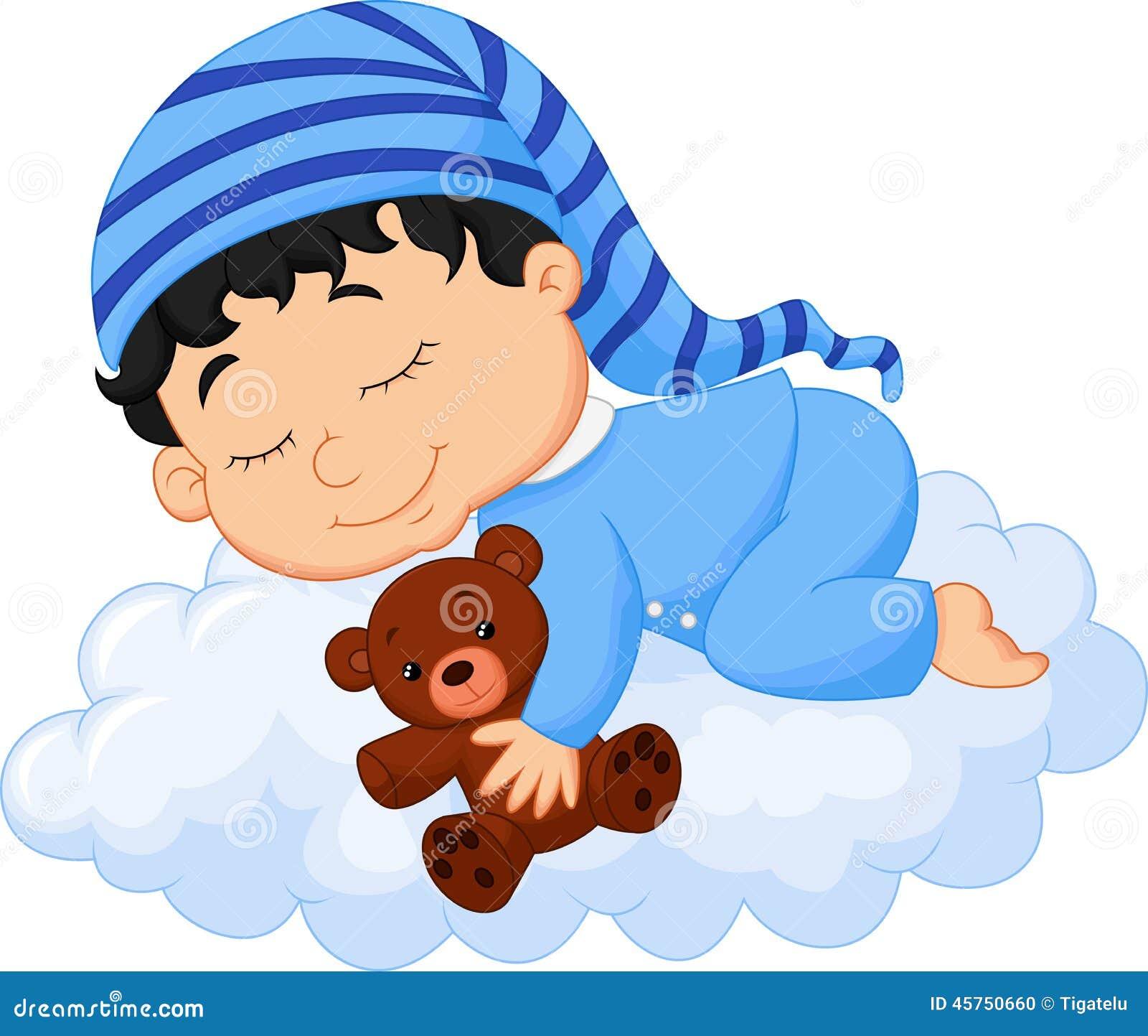 Nuvola di sonno del fumetto del bambino