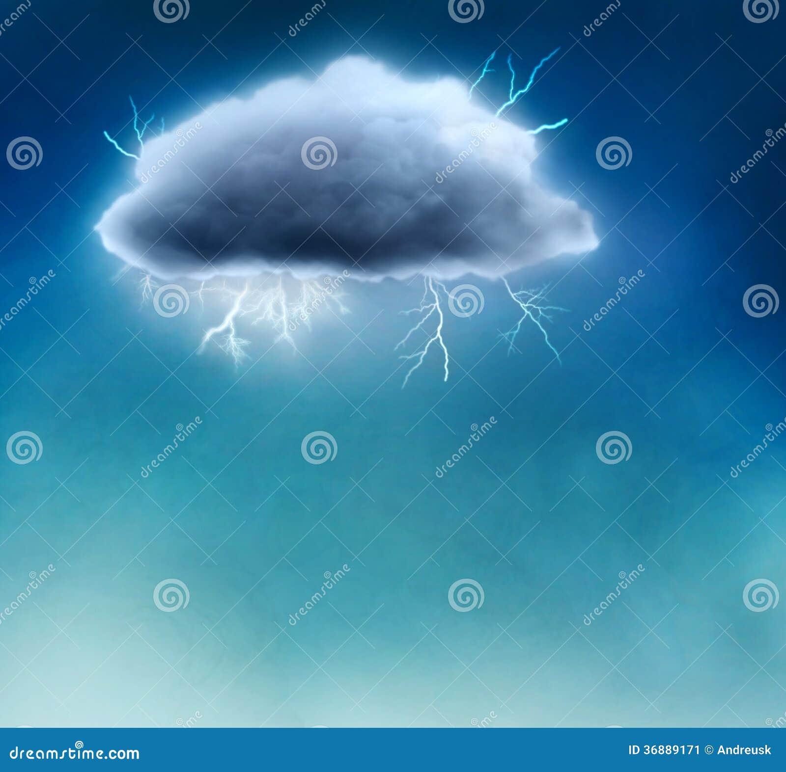 Download Nuvola tempestosa illustrazione di stock. Illustrazione di pericolo - 36889171