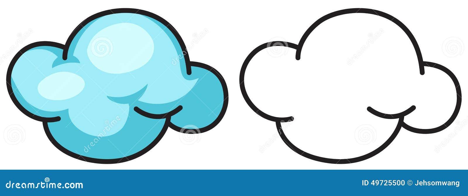 Nuvola variopinta ed in bianco e nero per il libro da for Nuvola da colorare