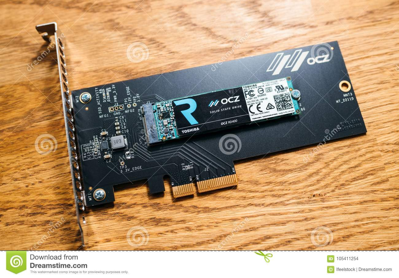 NVME PCIE SSD Hard Drive Disk With Itsh Adapter To The PCIE