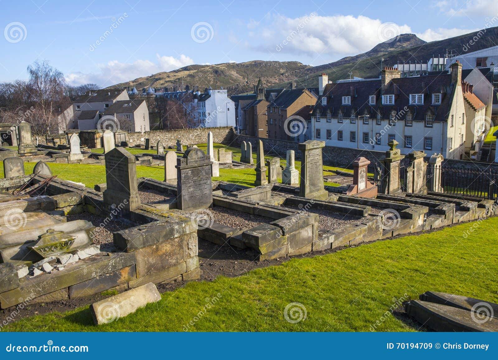 Ny Calton gravplats i Edinburg