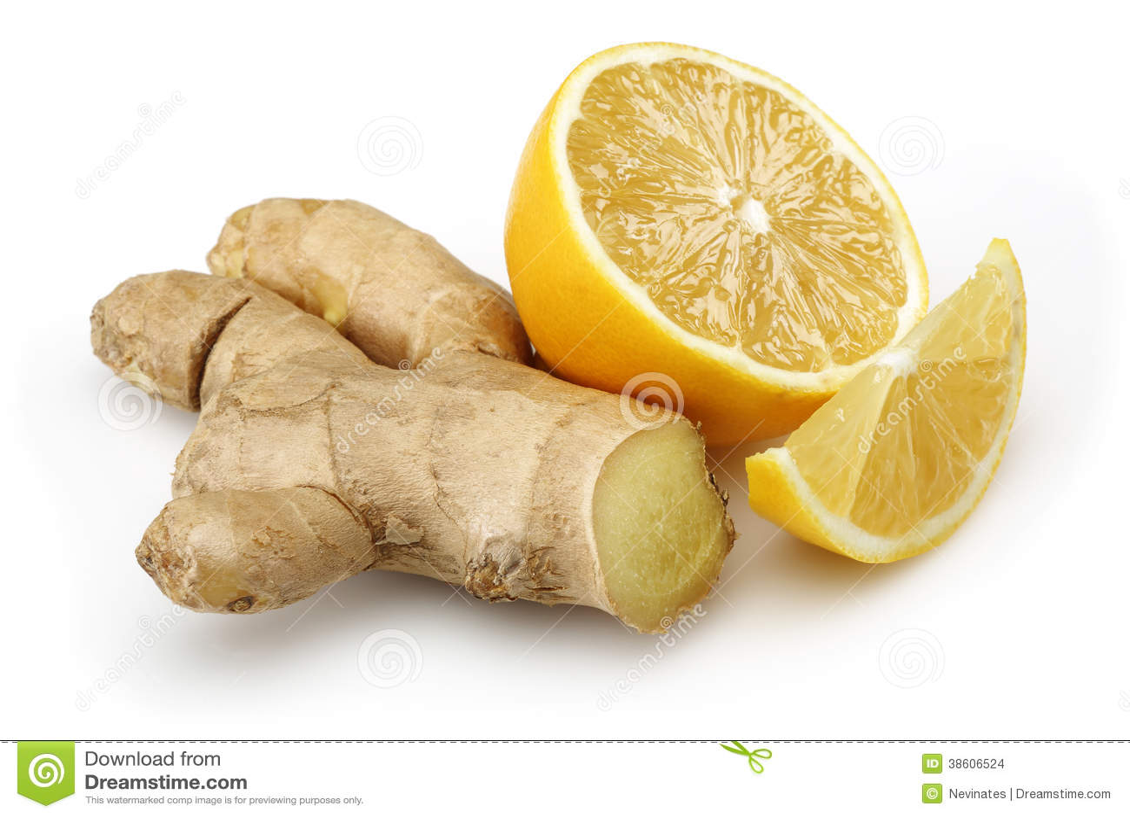 Ny citron med ingefäran