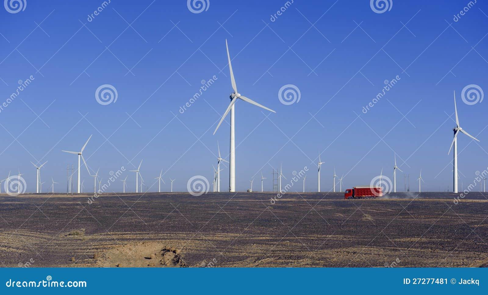 Ny energikälla av windmills för windström