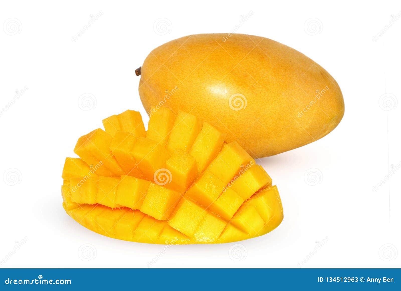 Ny frukt isolerad mangowhite