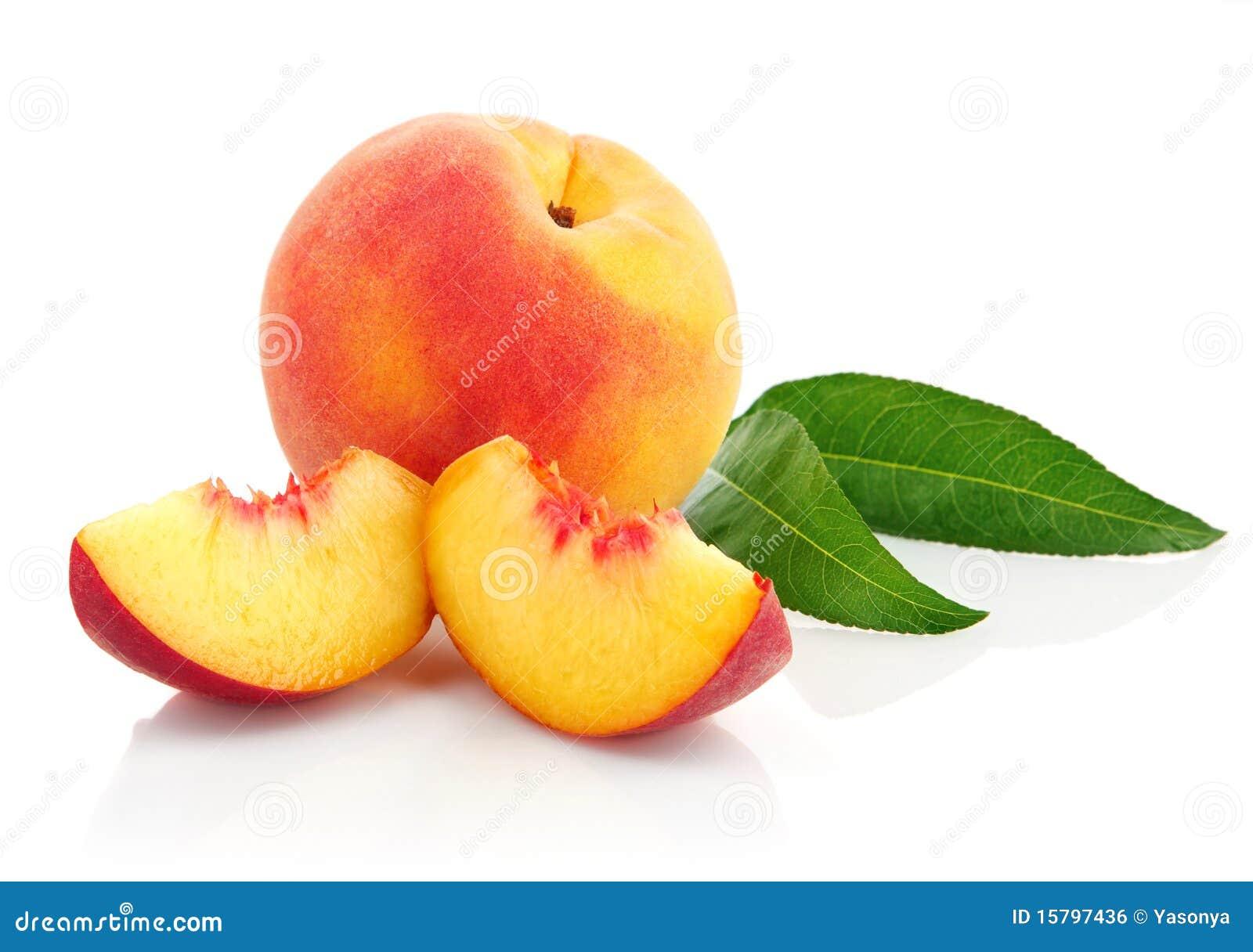 Ny fruktgreen låter vara persikan