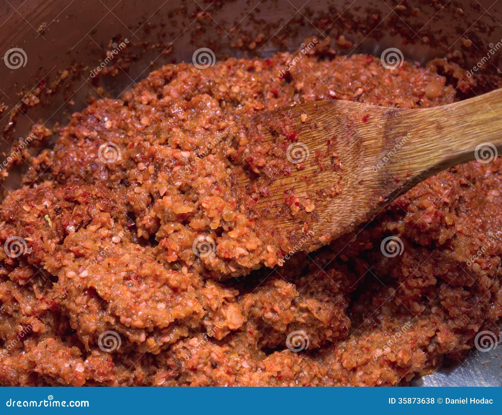 Ny gjord chilisås.