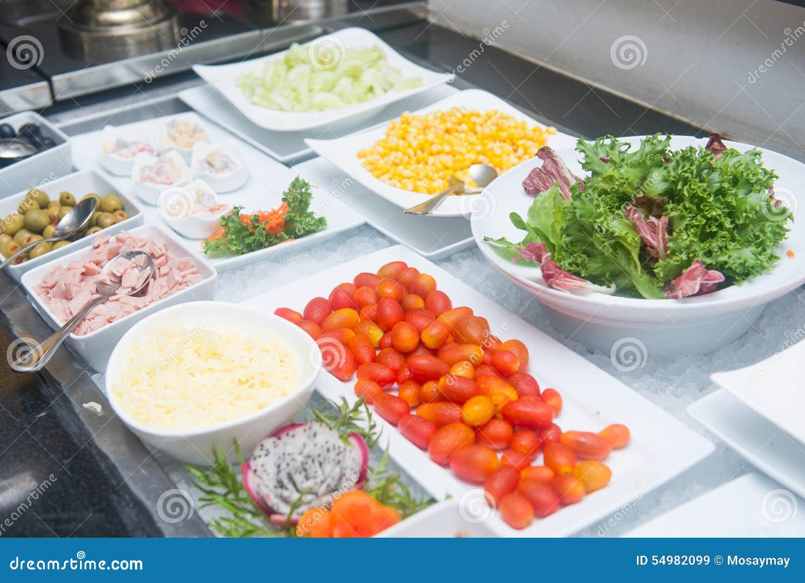 Ny grönsak i salladlinje