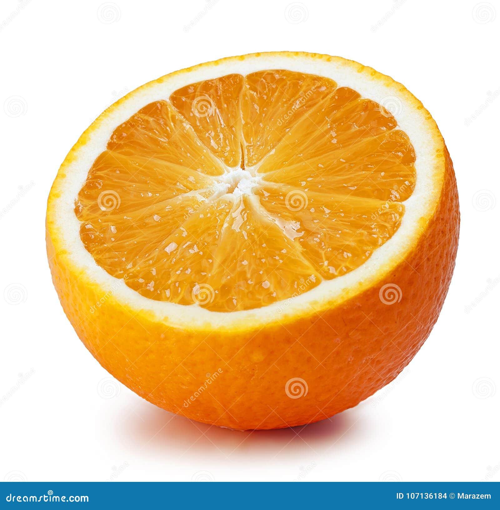 Ny isolerad orange mogen white