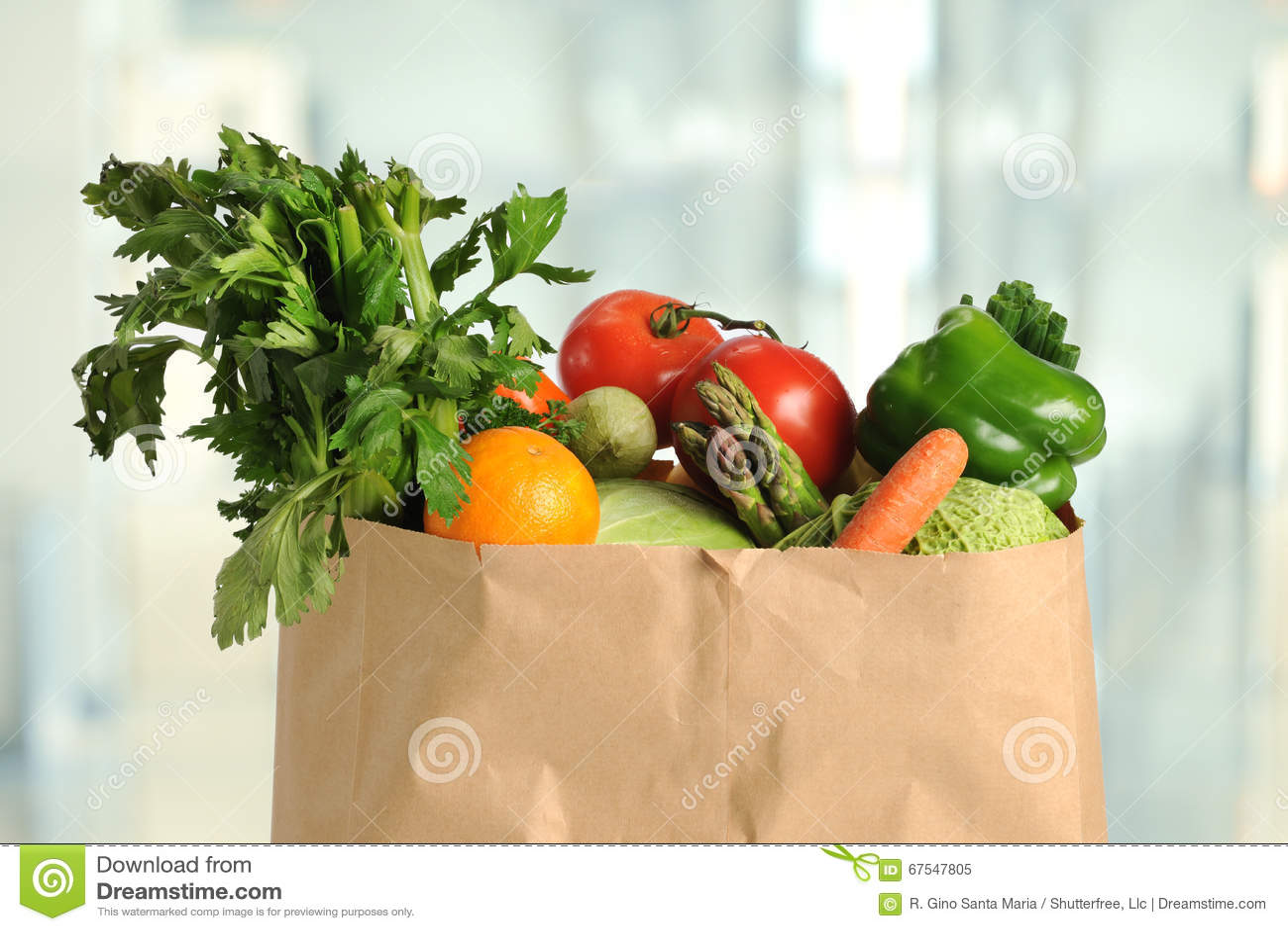 Ny jordbruksprodukter i pappers- påse