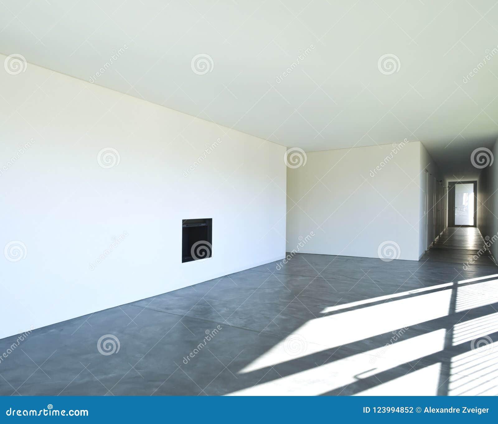 Ny lägenhet för inredesign Vardagsrum och korridor