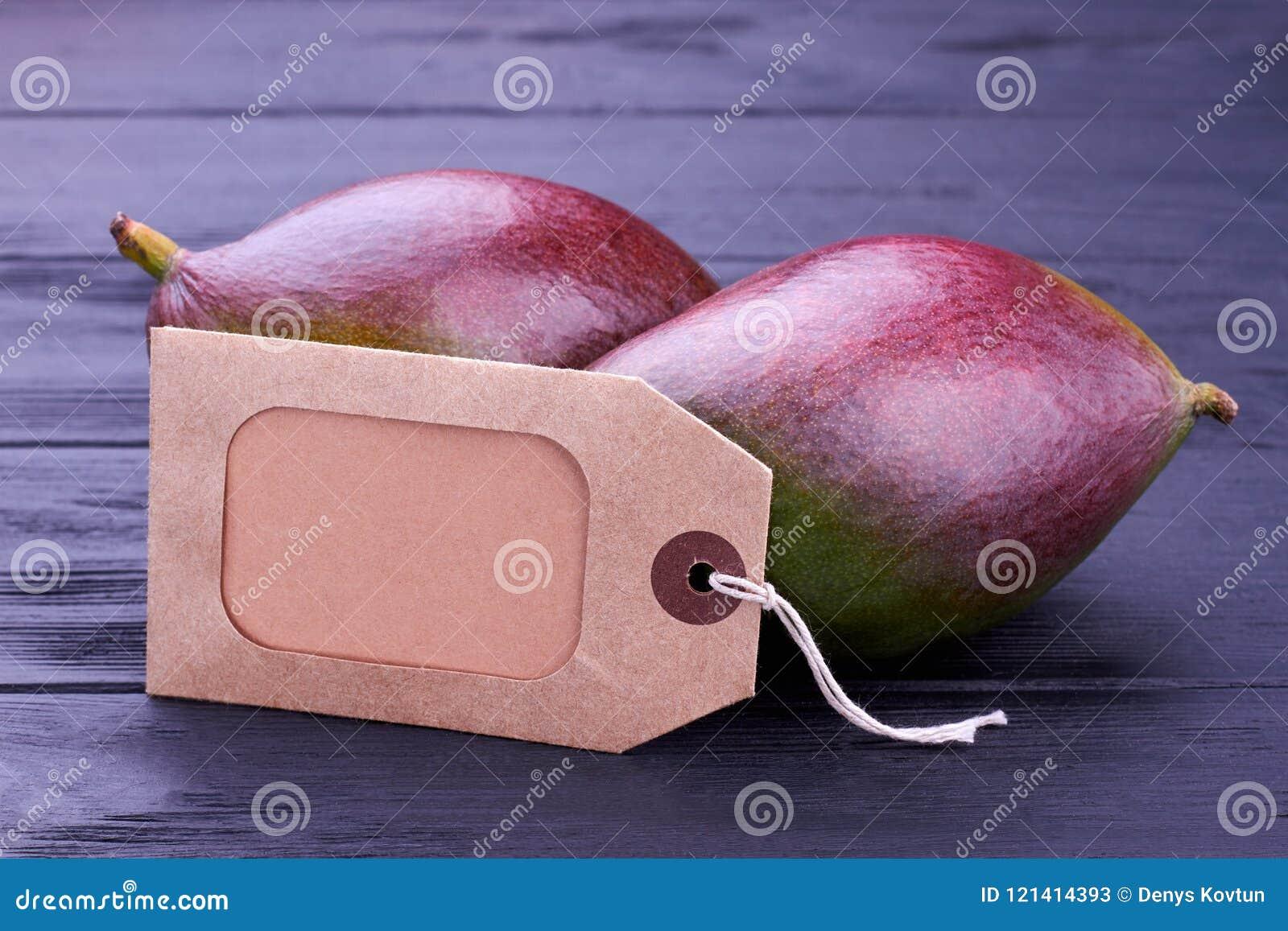 Ny mango- och mellanrumspappprislapp
