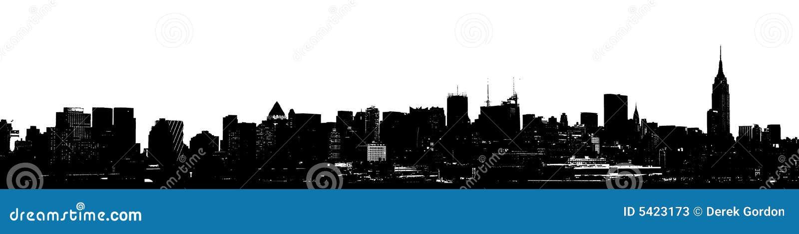 Ny panorama- silhouettehorisont york