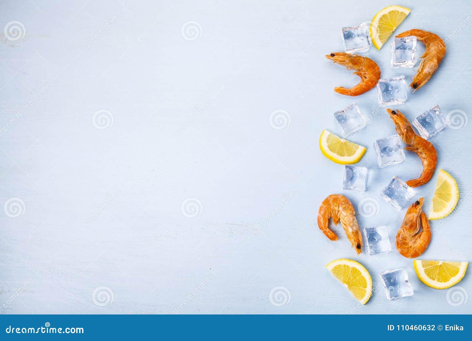 Ny räka med citronen på is