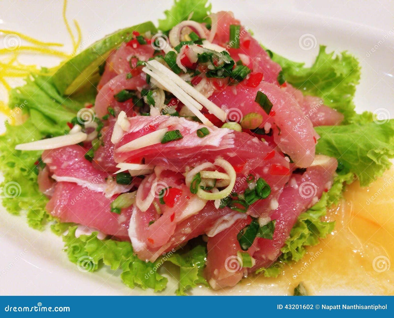 Download Ny salladtonfisk arkivfoto. Bild av meny, kryddigt, tonfisk - 43201602