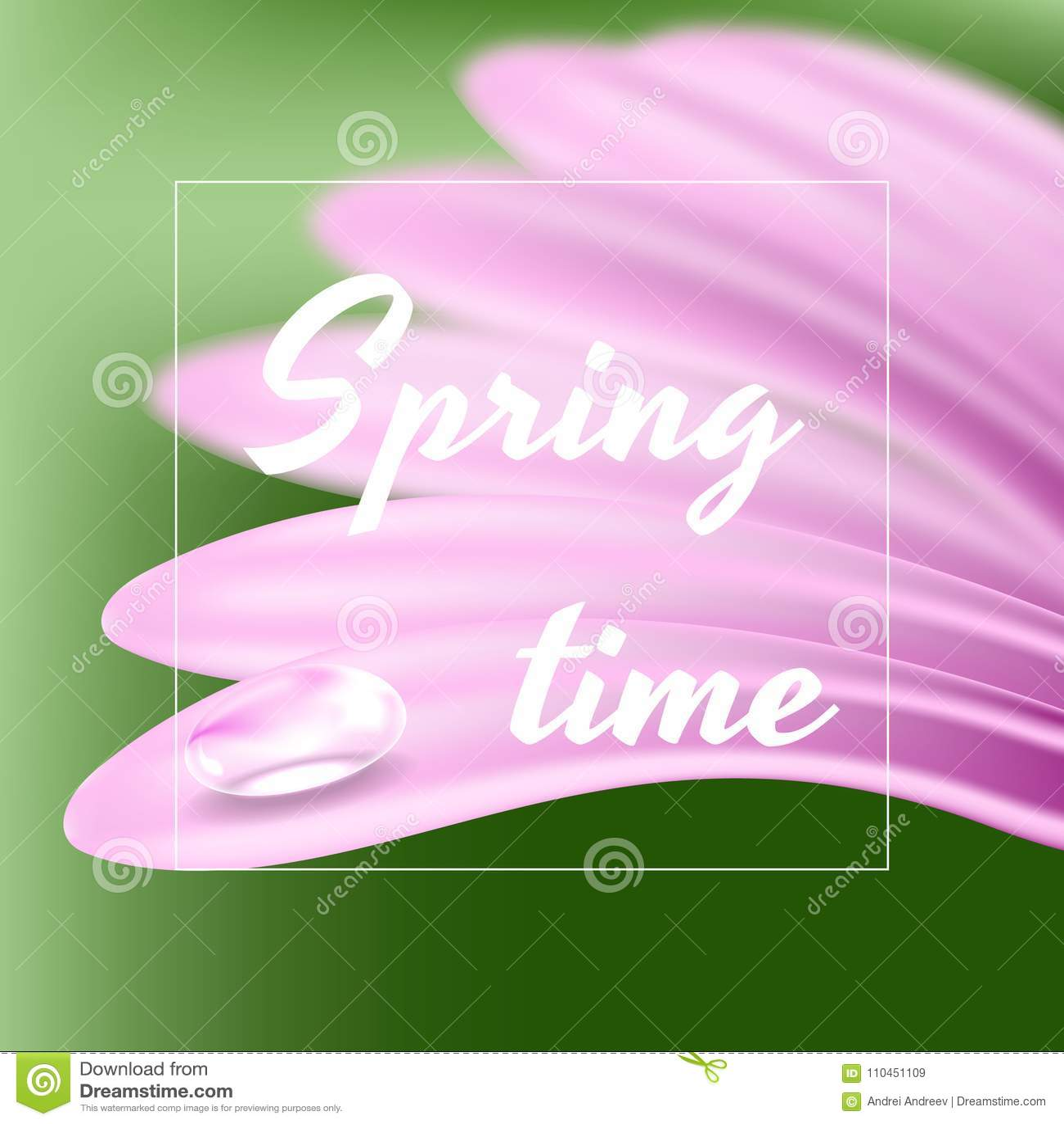 Ny vårbakgrund med en tusensköna och en droppe av dagg