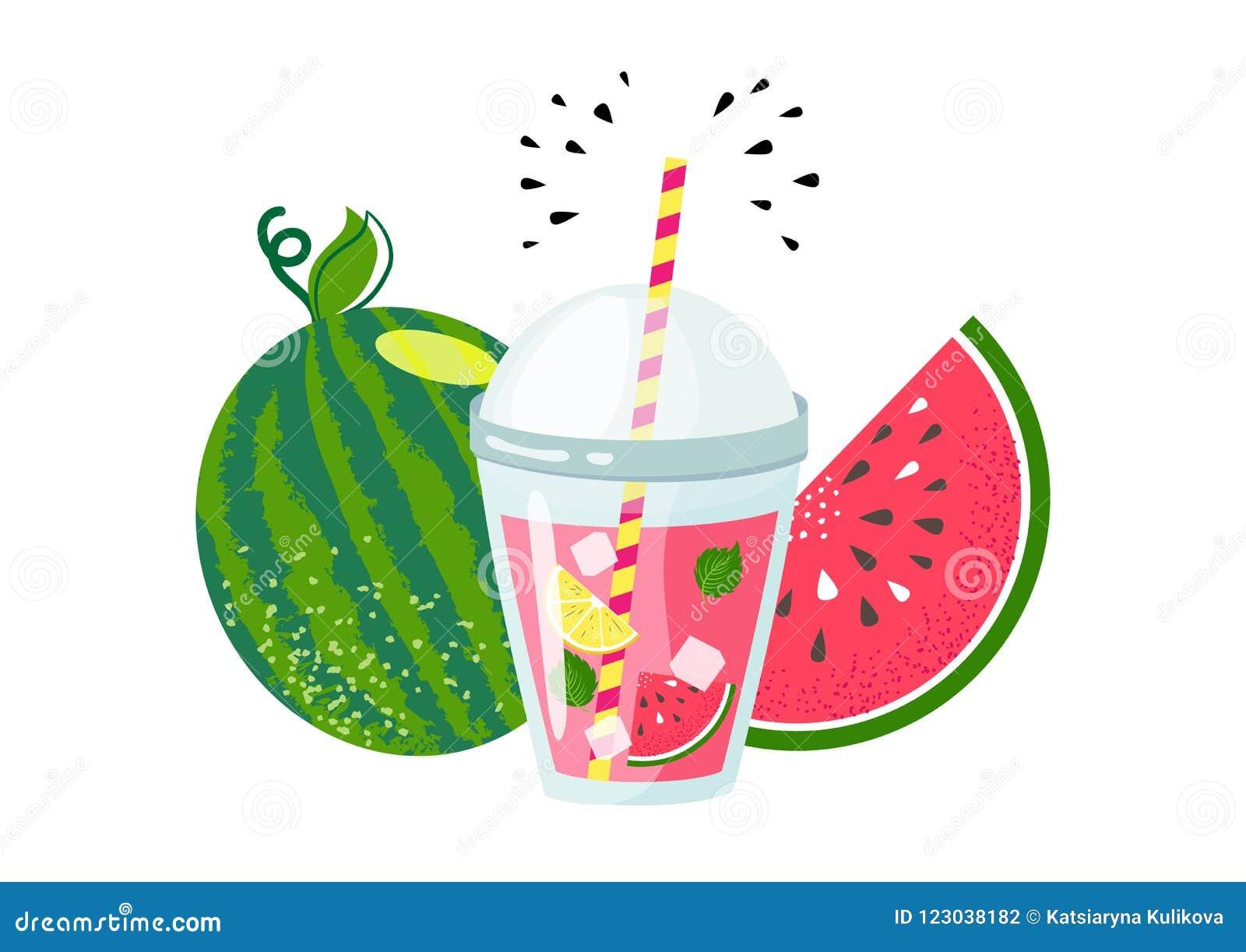 Ny vattenmelonsommarlemonad