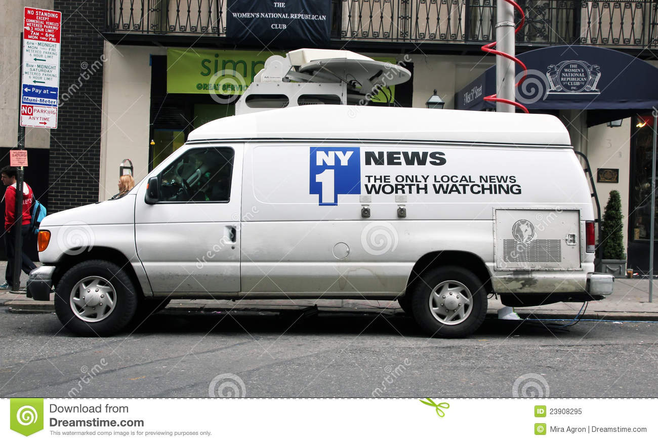 24 Hour Tire >> NY1 News Vehicle Editorial Image - Image: 23908295