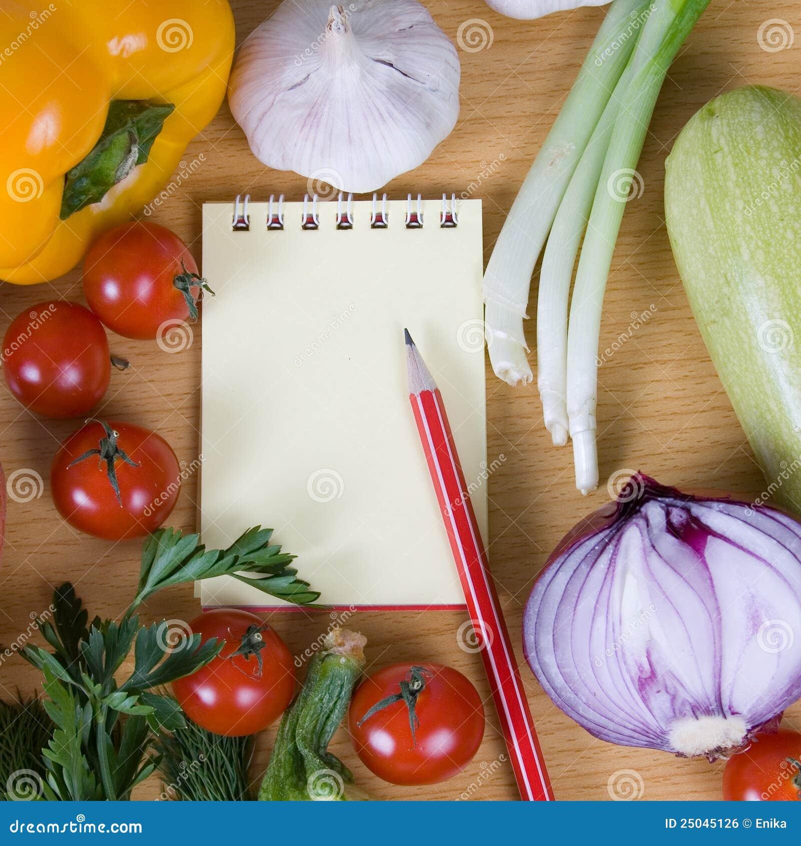 Nya anteckningsbokgrönsaker