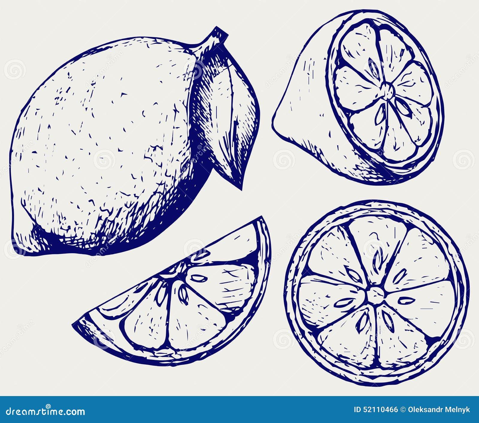 Nya citroner Klottra stil
