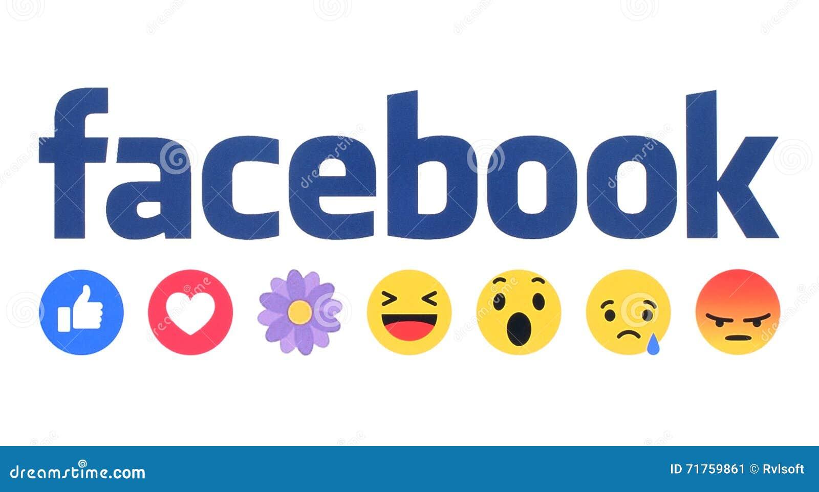 Nya Facebook som Empathetic Emoji för knapp reaktioner med blomman