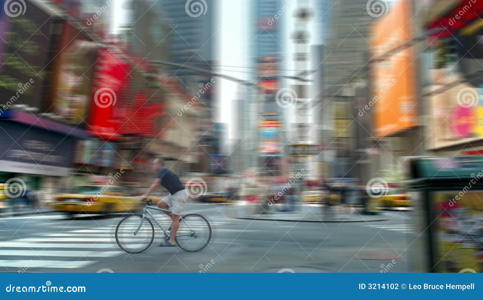 Nya fyrkantiga tider york för cykelblur