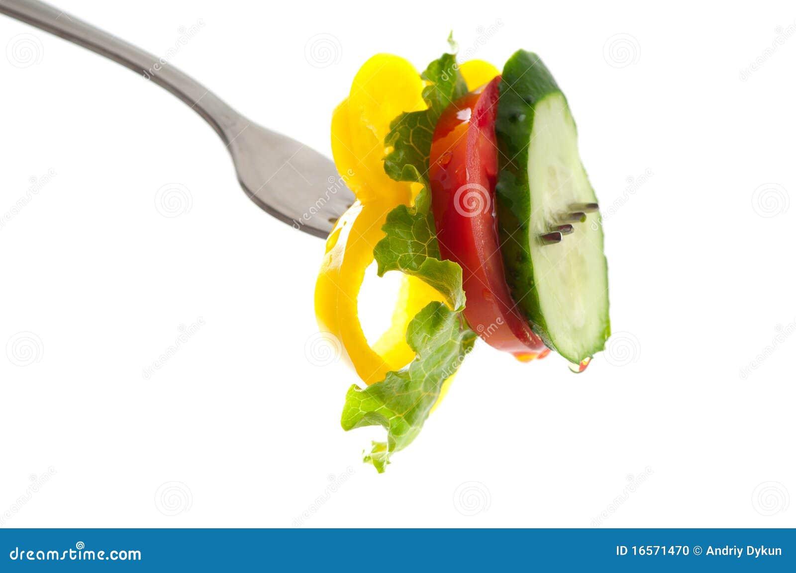 Nya grönsaker för gaffel