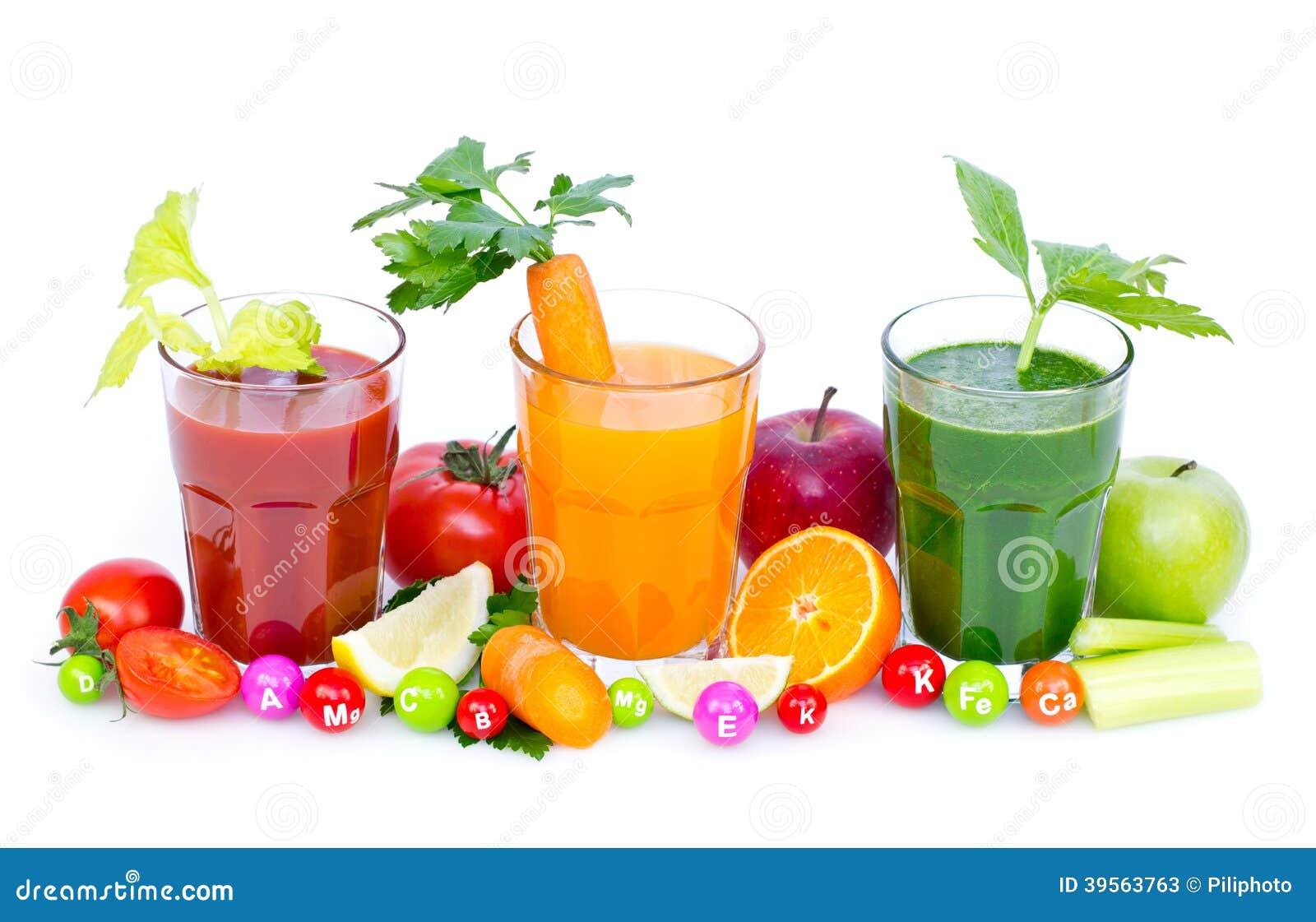 Nya organiska frukt och grönsakfruktsafter