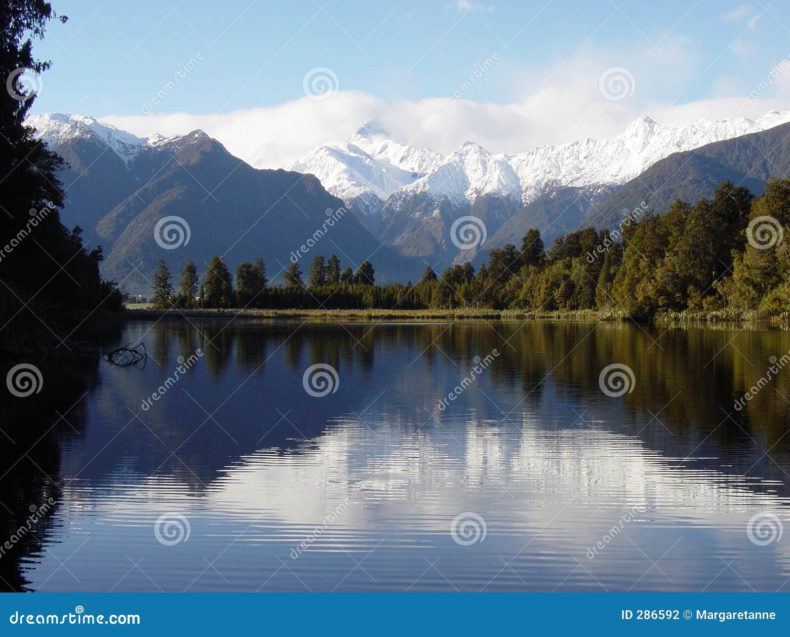 Nya reflexioner zealand för lake