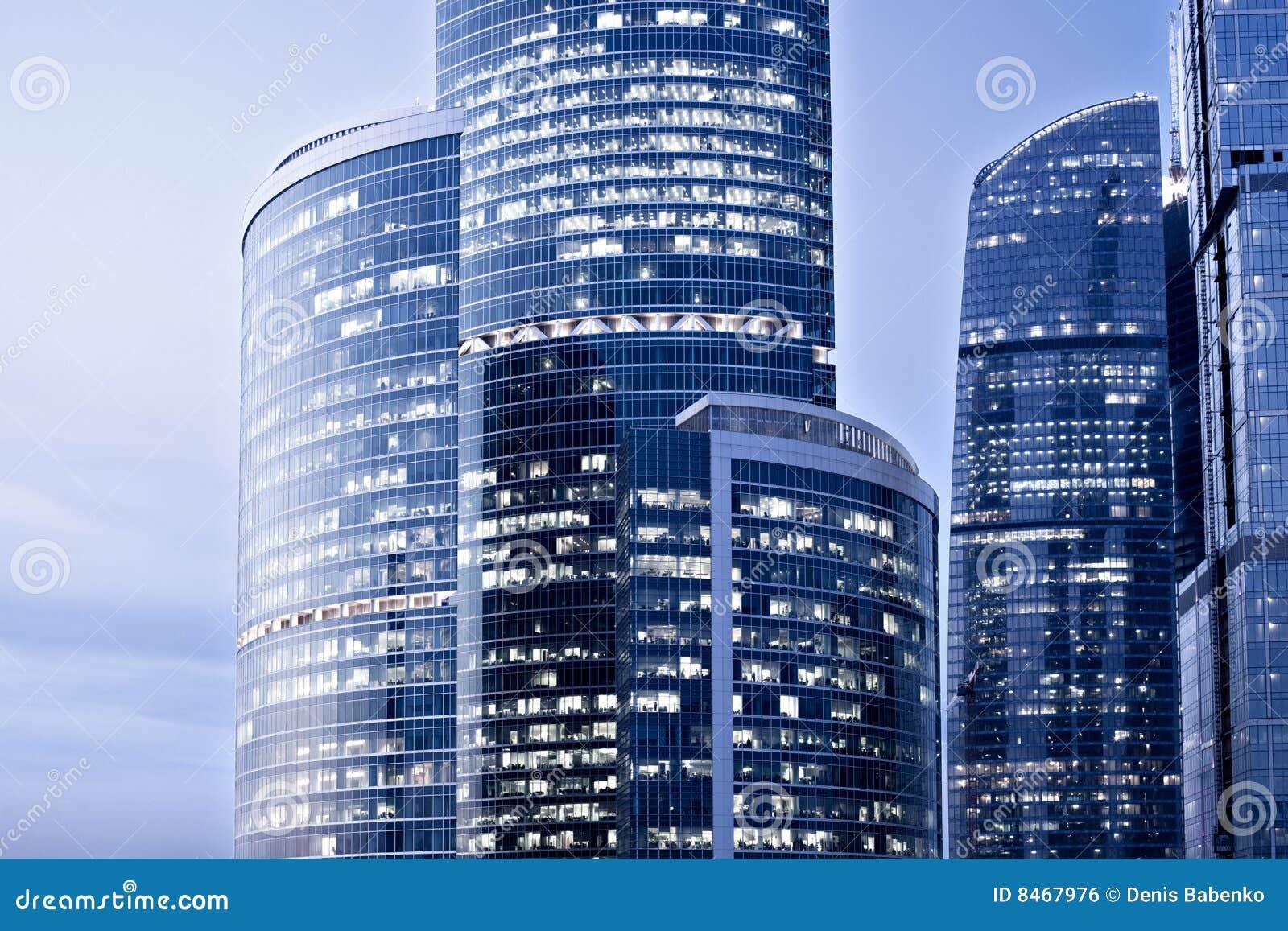 Nya skyskrapor för afton