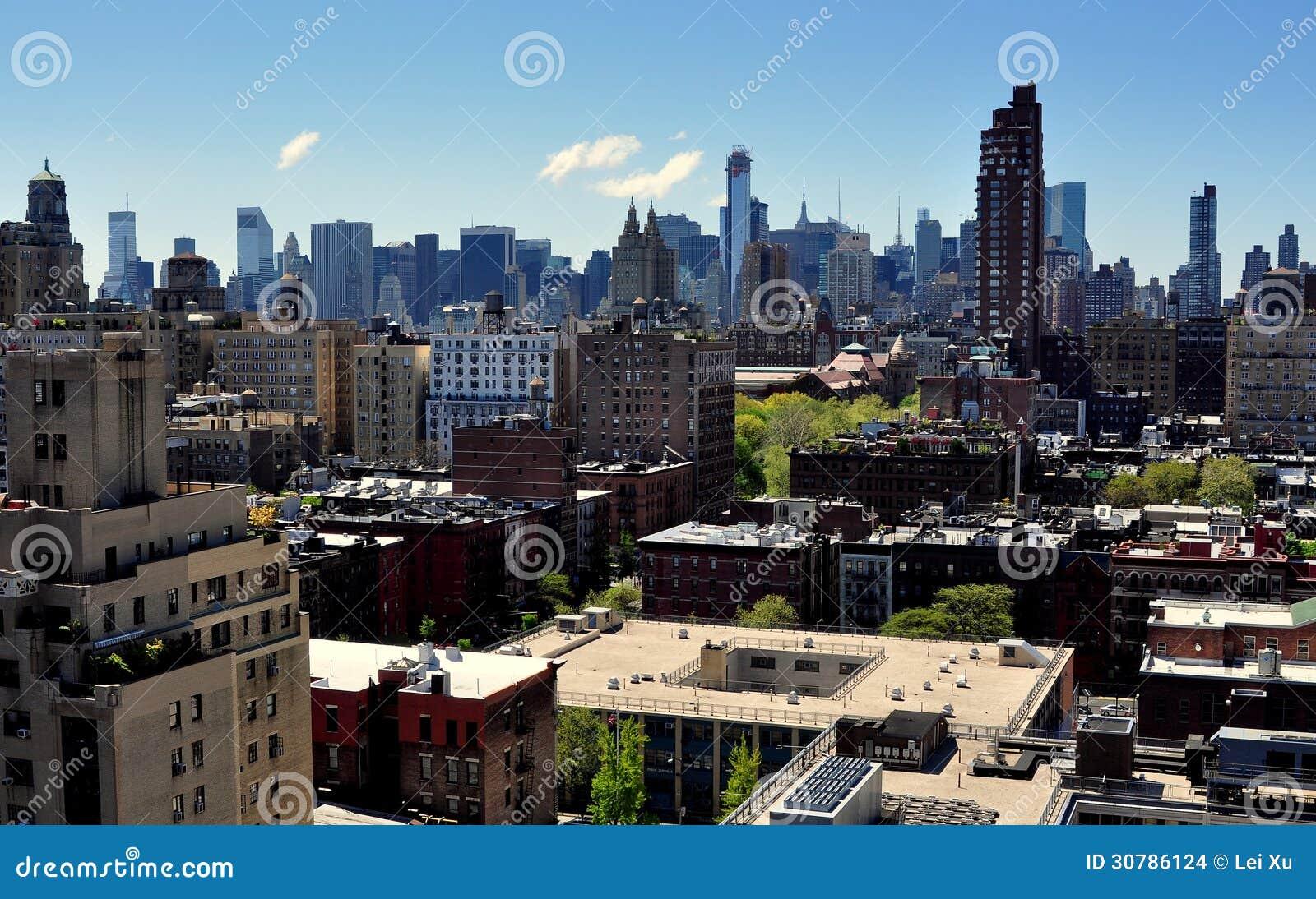 NYC: Środka miasta Manhattan linia horyzontu