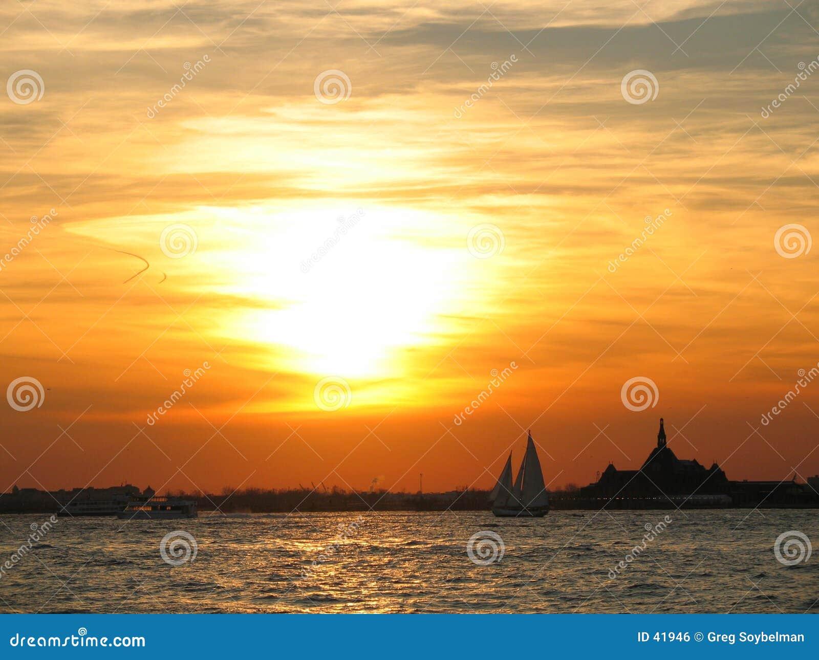 Nyc ηλιοβασίλεμα
