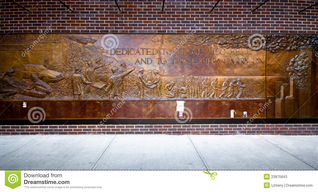 Nyc 9 11 Firefighters Memorial Editorial Stock Photo