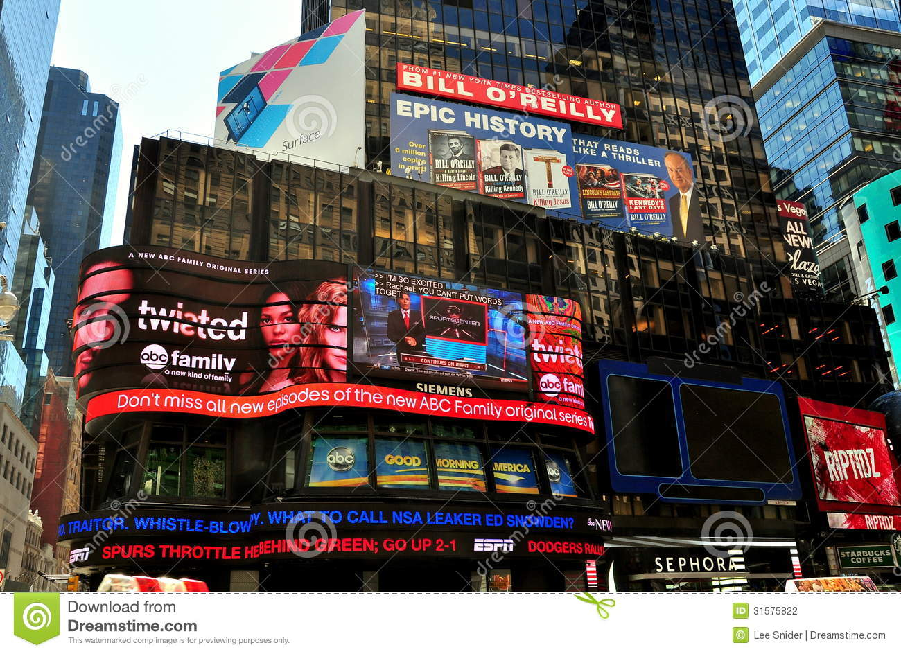 Good Morning America Nyc : Nyc advertising billboards in times square editorial