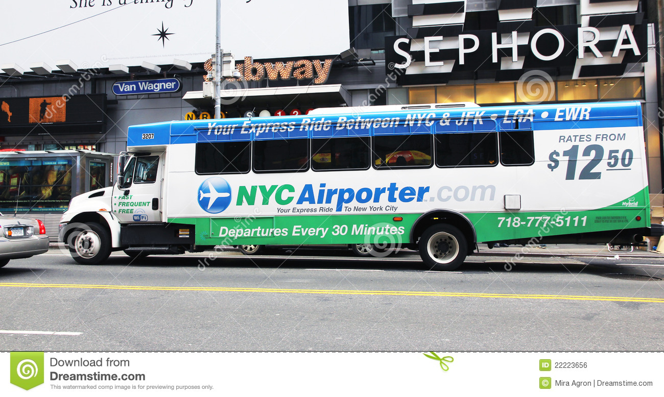 nyc airporter editorial photo. image of visitors, express - 22223656