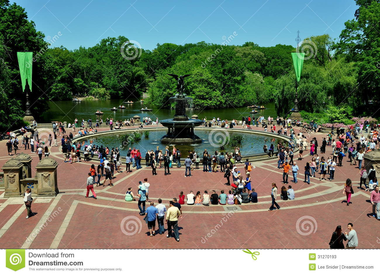 NYC: Bethesda Terrace & Fountain In Central Park Editorial Stock Photo ...