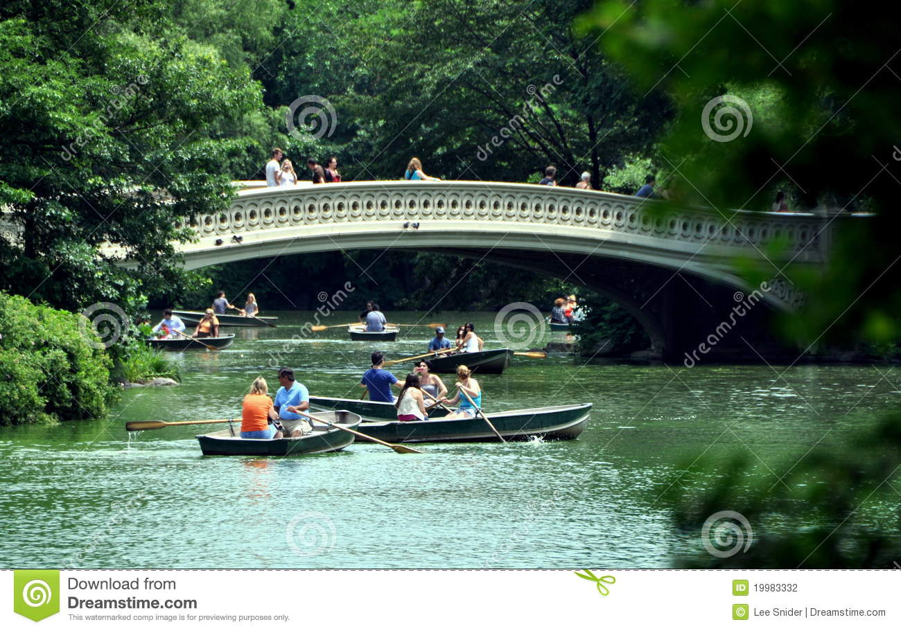 NYC: Central Park's Boating Lake Editorial Photography