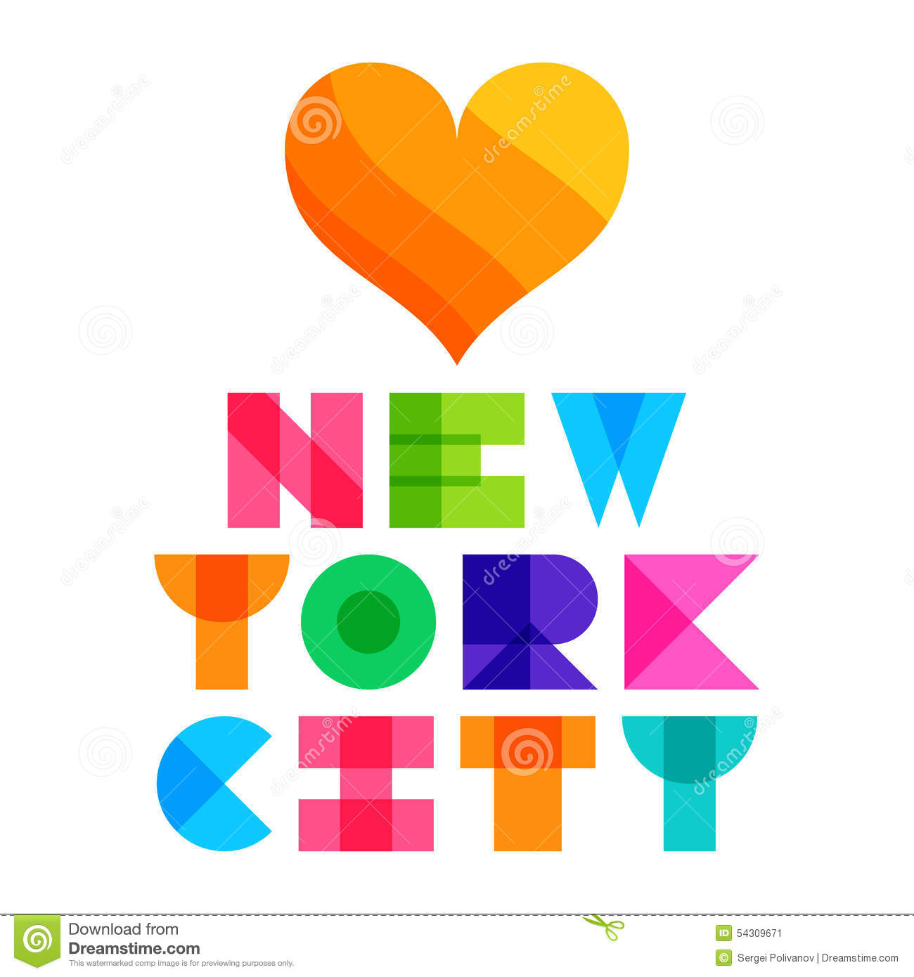 Color art tipografia - Nyc Color Text Typography T Shirt Graphics Vector Illustration