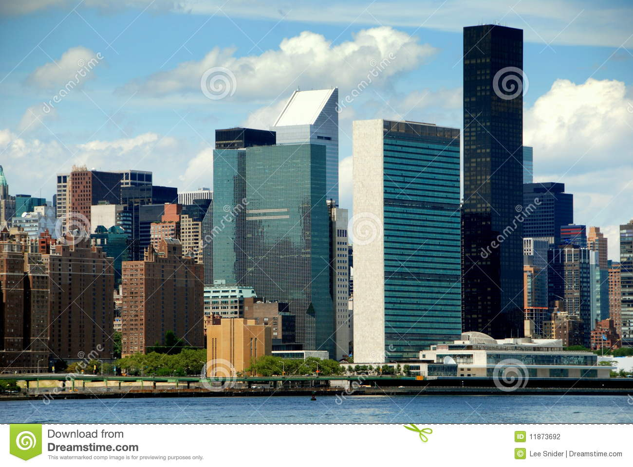 nyc east side skyline and un building stock photo image. Black Bedroom Furniture Sets. Home Design Ideas