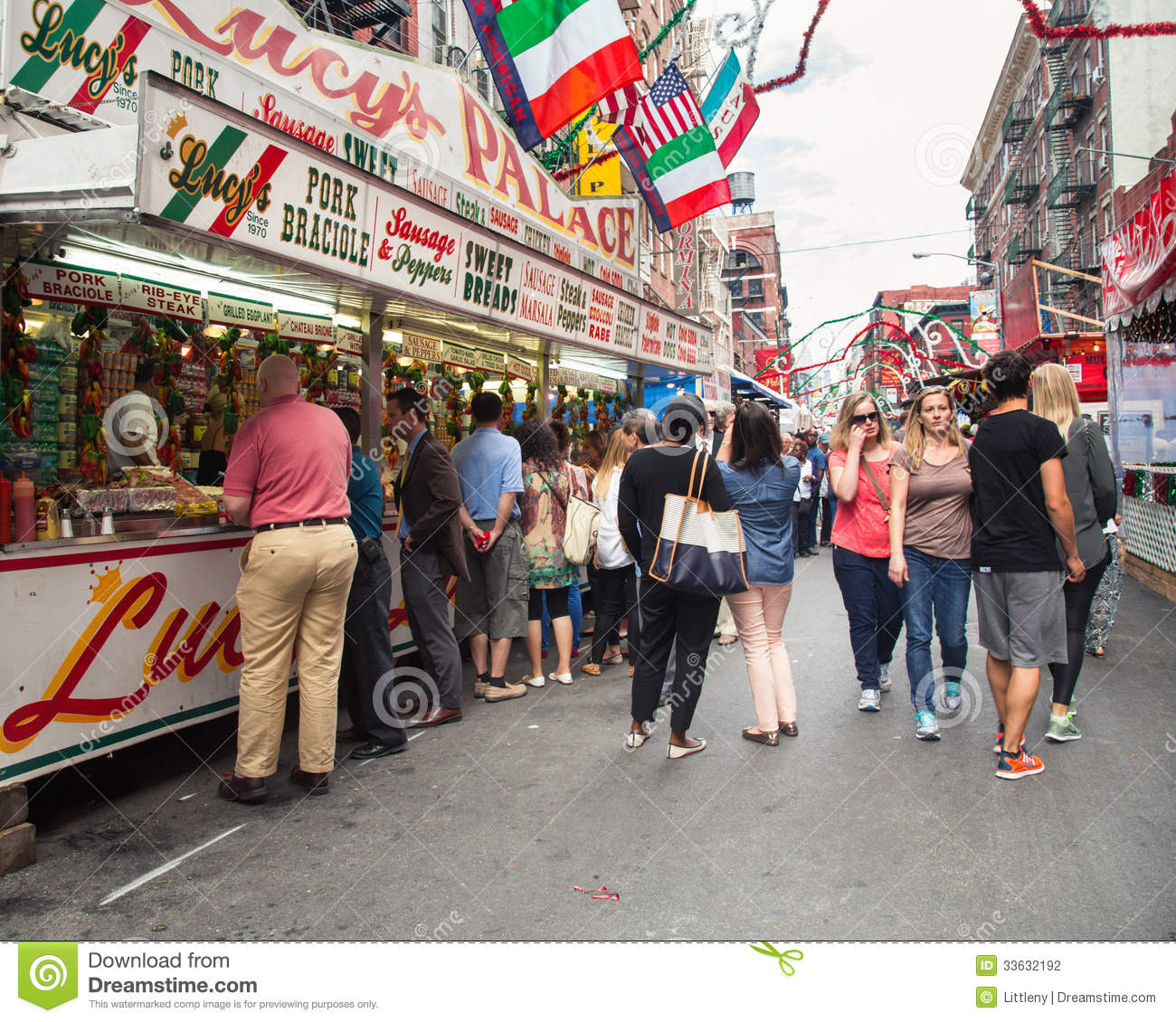 NYC Feast Of San Gennaro Editorial Photography - Image ...