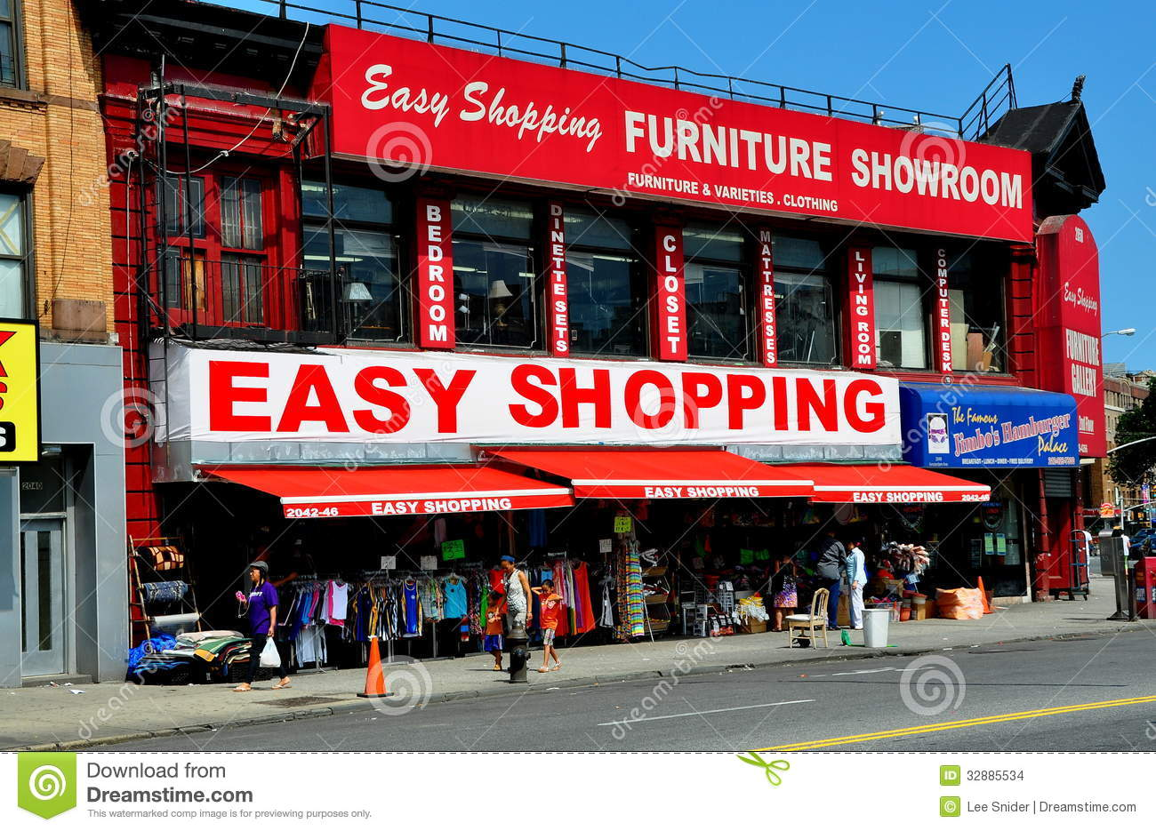 Nyc furniture store in upper harlem editorial stock image for Furniture stores nyc