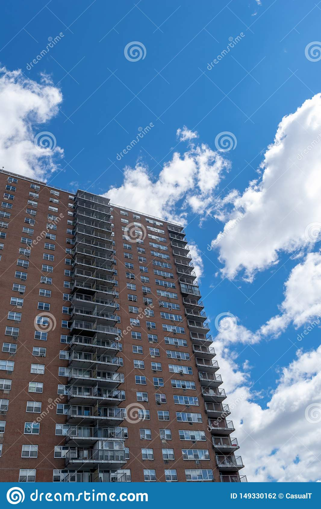 NYC housing projects on 145th Street and Malcolm X Boulevard in Harlem