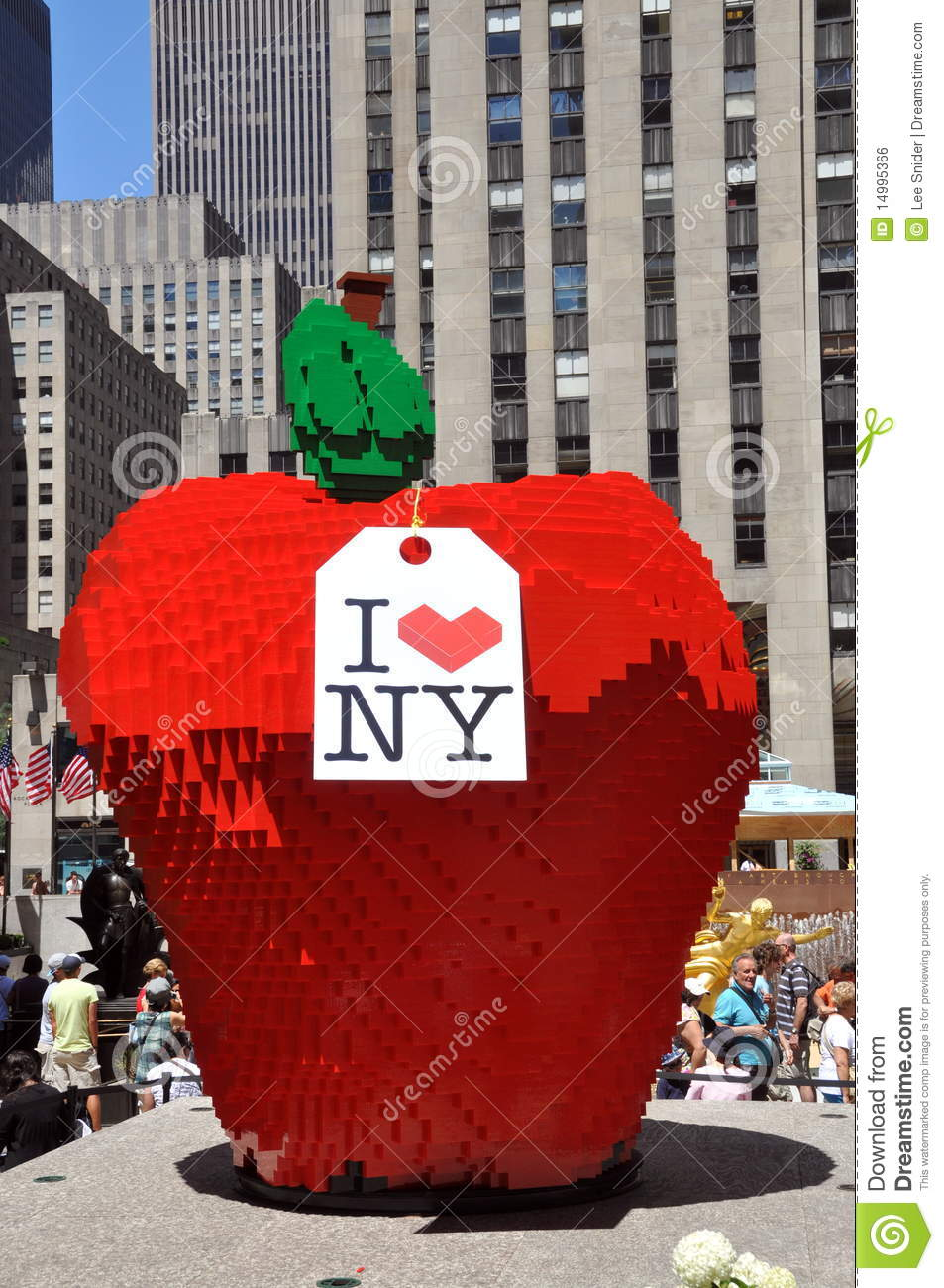 Nyc lego apple at rockefeller center editorial photo for Ohrensessel york big