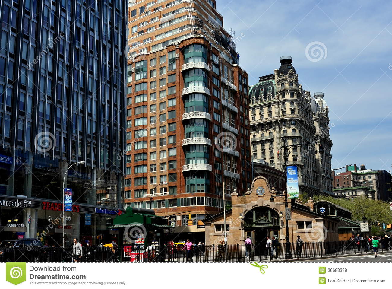 nyc luxury apartments on nyc s broadway editorial stock photo